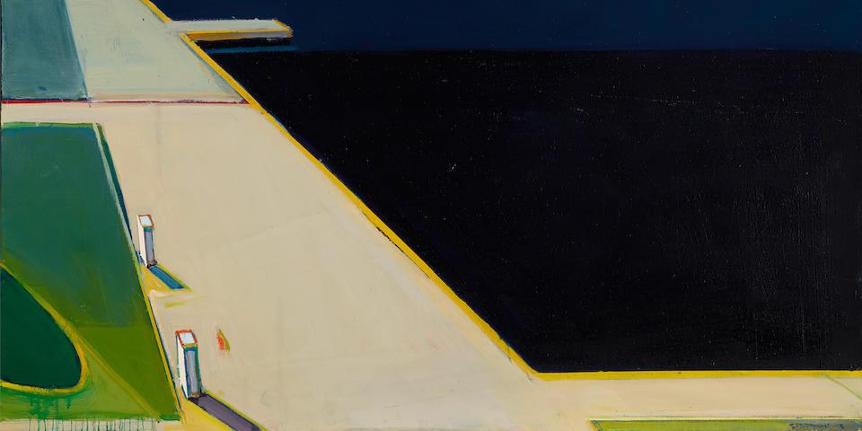 Raimonds  Staprans (B. 1926) Seaside Docks, 2007