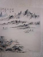 Lin Sanzhi (1898-1989) Two Landscapes, 1972