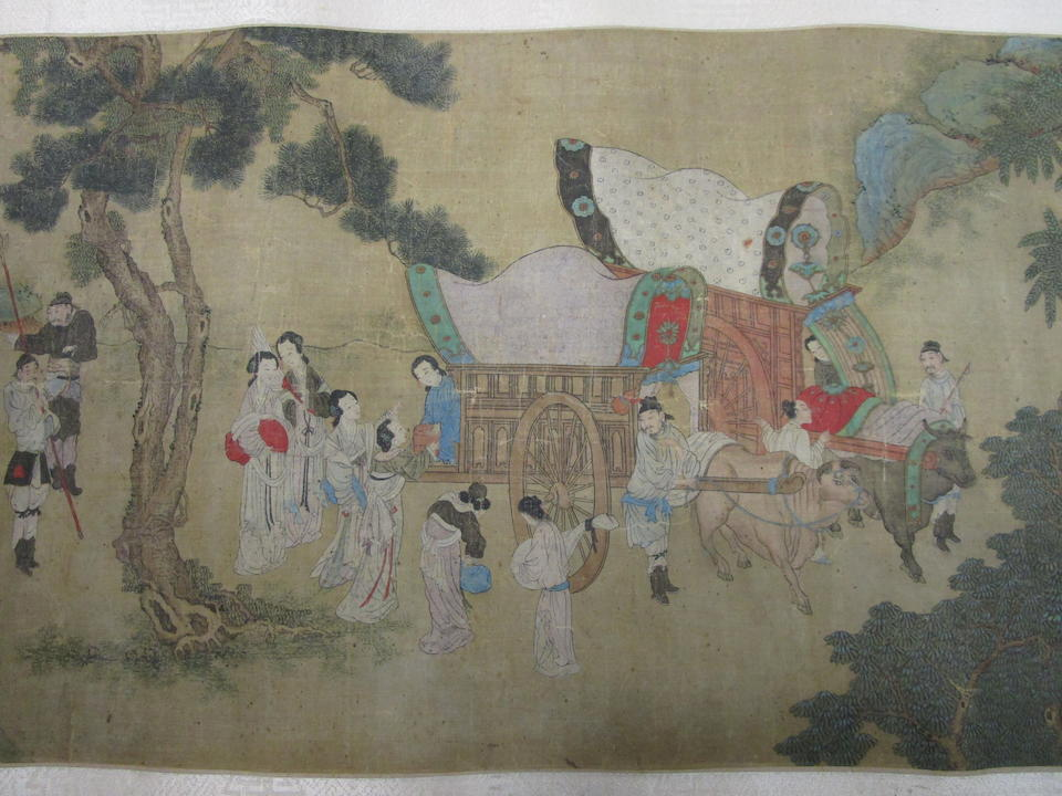 After Qiu Ying (19th/early 20th century)  Figures in Landscape