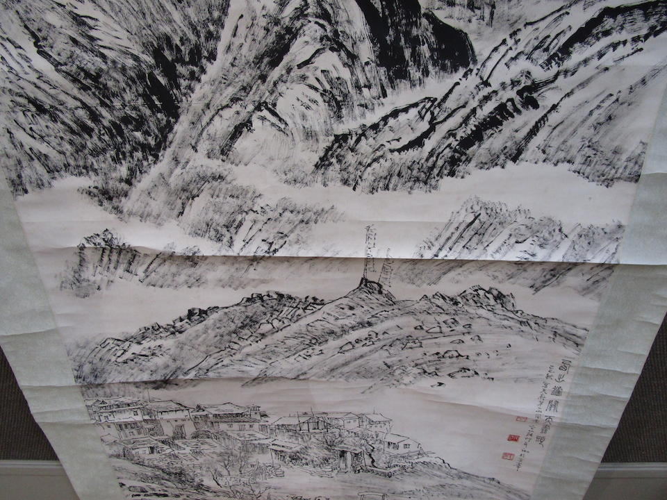 Zhang Ding (1917-2010)  Landscape at Luguan, 1979