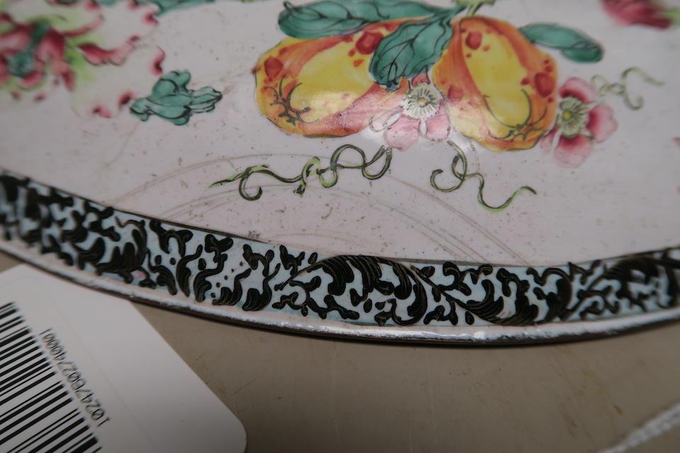 A fine Canton enameled deep dish 18th century