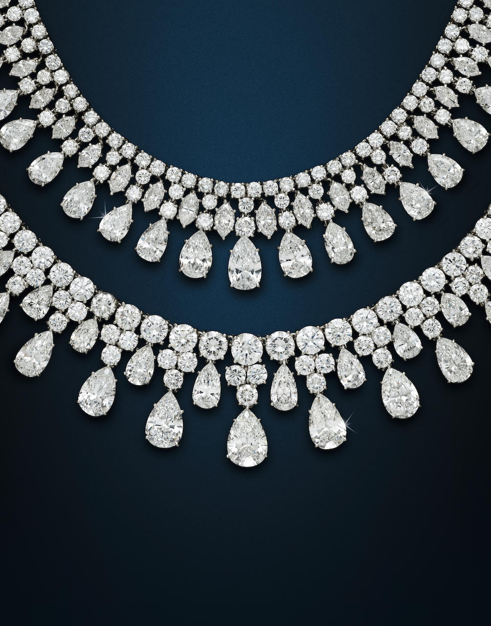 A diamond necklace, Harry Winston,