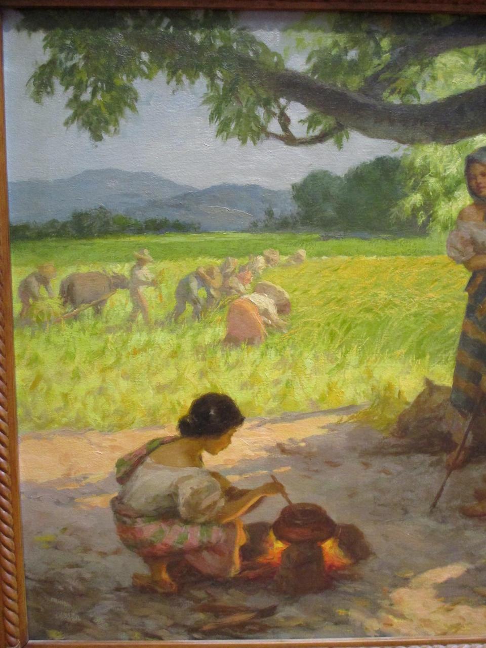 Fernando Amorsolo Y Cueto (Philippines 1892-1972)  A Family Resting Under a Mango Tree, 1951