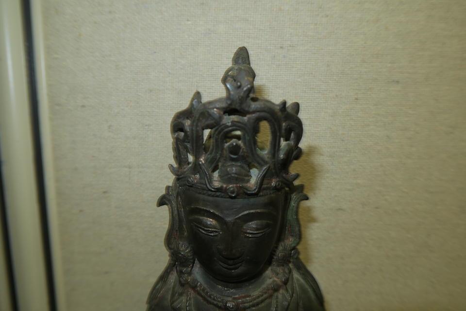 Two cast bronze sculptures  17th century