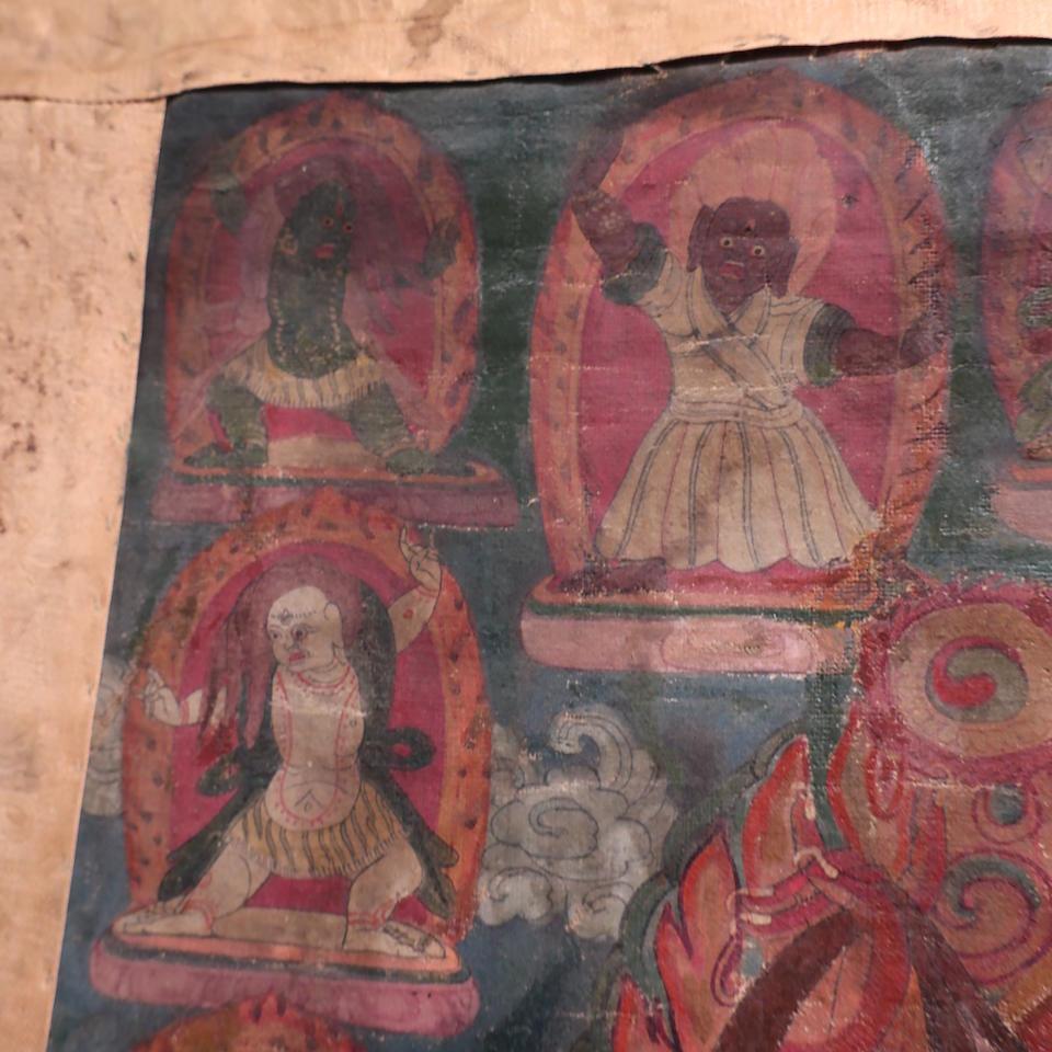 A thangka of Tagla Membar Tibet, 18th century