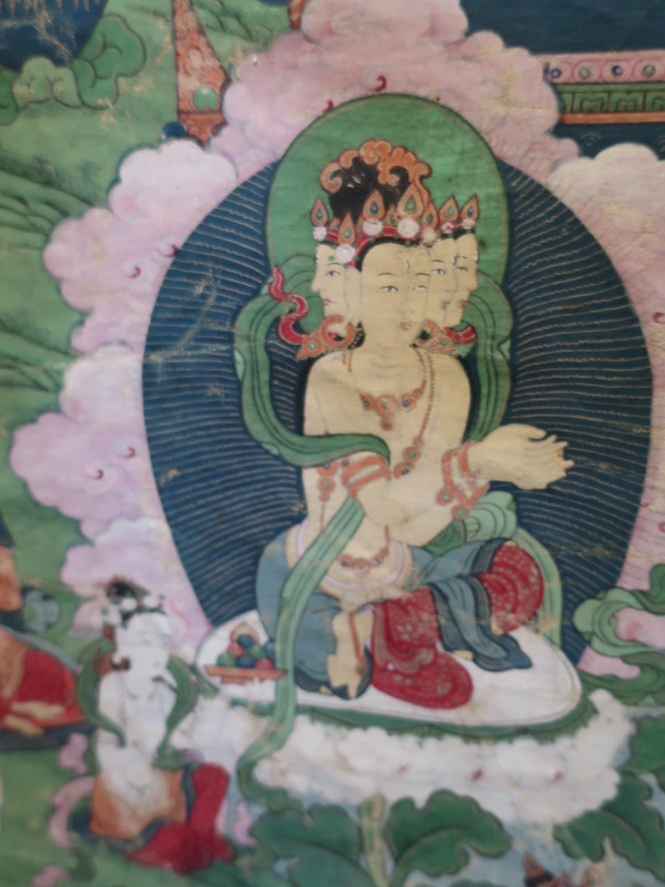 A thangka of Buddha Tibet, 18th century
