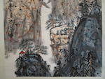 Fang Zhaolin (1914-2006) Mountain and Pine Landscape, 1988