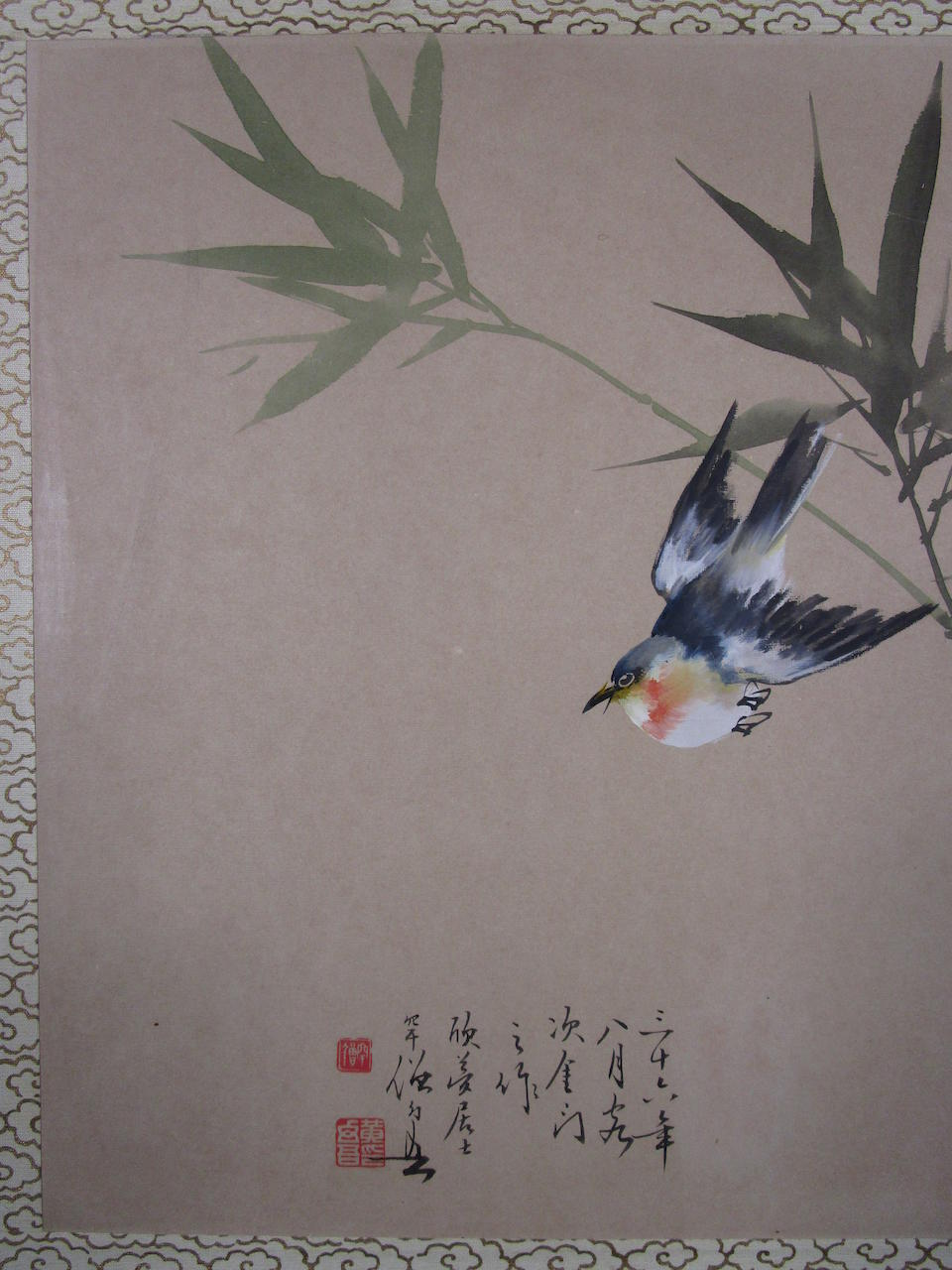 Huang Huanwu (1906-1985)  Two paintings of Birds and Flowers