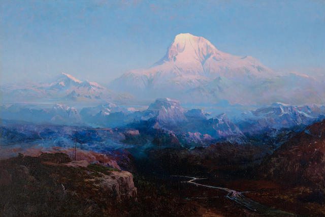 Sydney Laurence (1865-1940) Mount McKinley, 63° North Latitude, Alaska, Altitude 20.390 Feet 36 5/8 x 54 5/8in overall: 44 3/4 x 62 1/2in (Painted circa 1911-12)