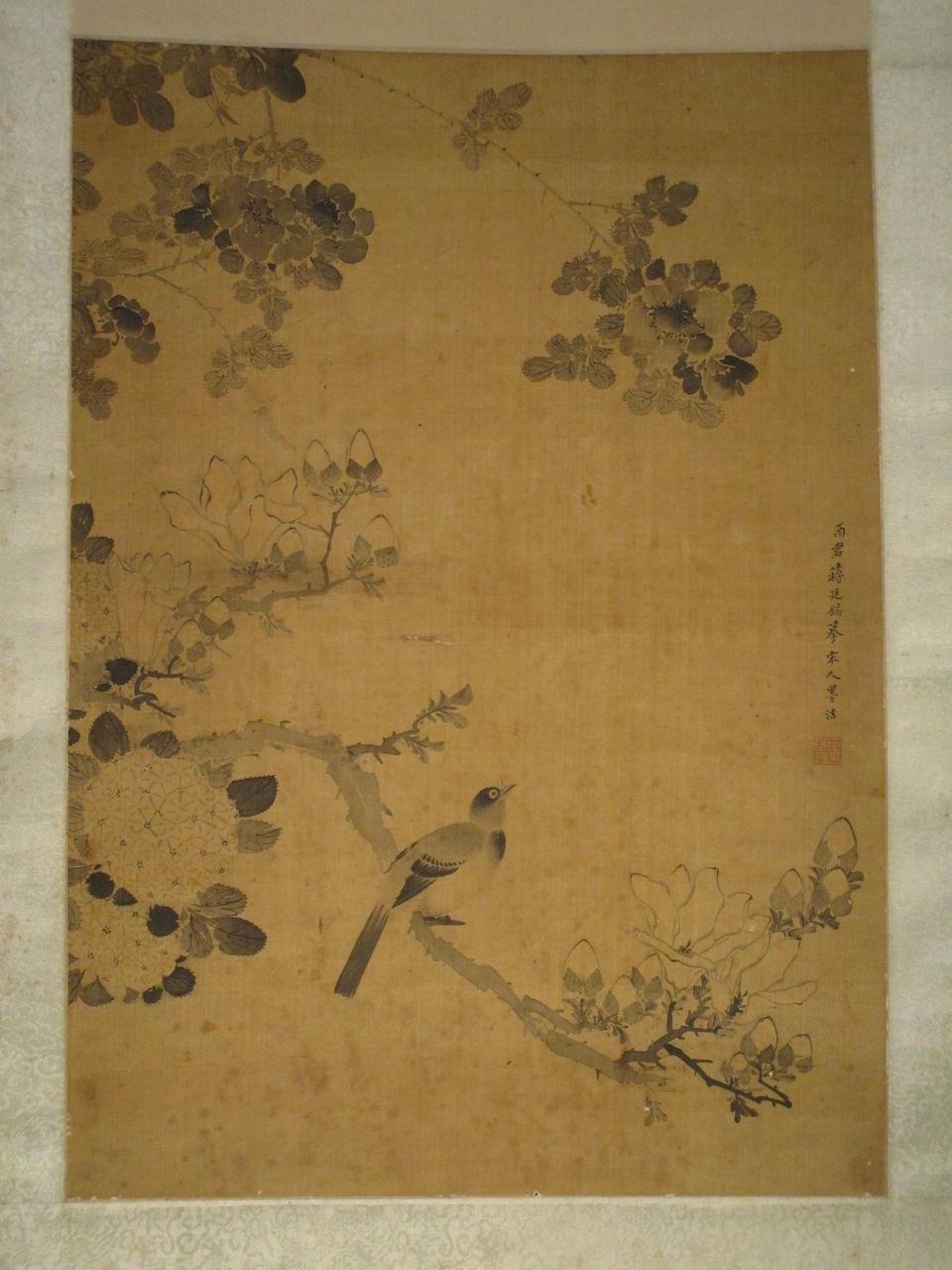 Jiang Tingxi (1669-1732)  Ink Magnolia and Bird