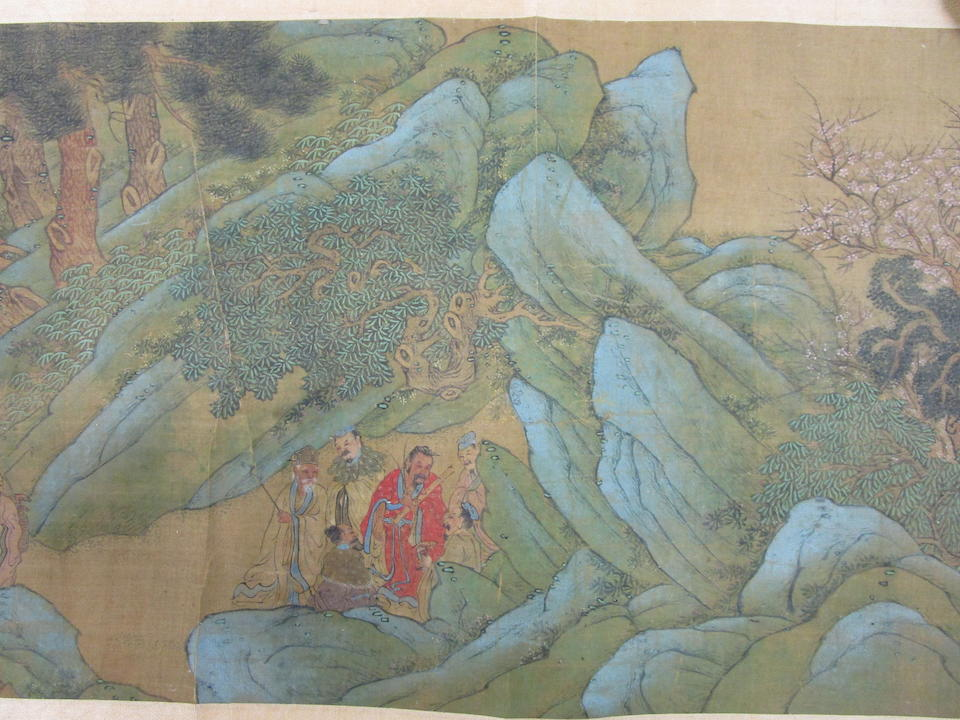Anonymous (18th/19th century) Daoist Immortals in Blue and Green Landscape