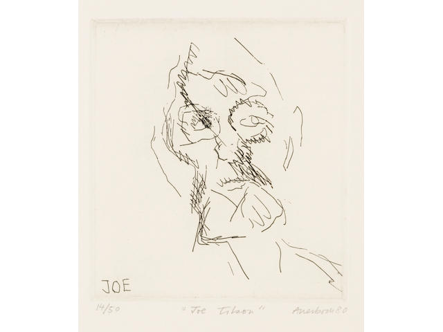 Frank Auerbach (born 1931); Six Etchings of Heads; (6)