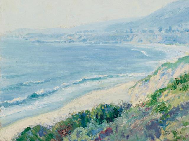 Guy Rose (1867-1925) Laguna Beach 18 1/4 x 15 1/8in overall: 25 x 22in