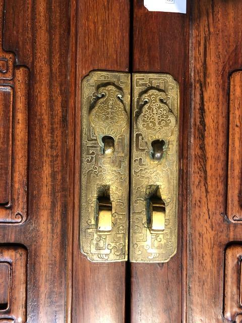 A fine hongmu compound cabinet 20th century
