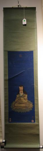 Various Artists (20th century)  Two paintings of Buddhist Figures