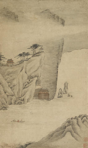Attributed to Zhang Yin (1761-1829)  Landscape