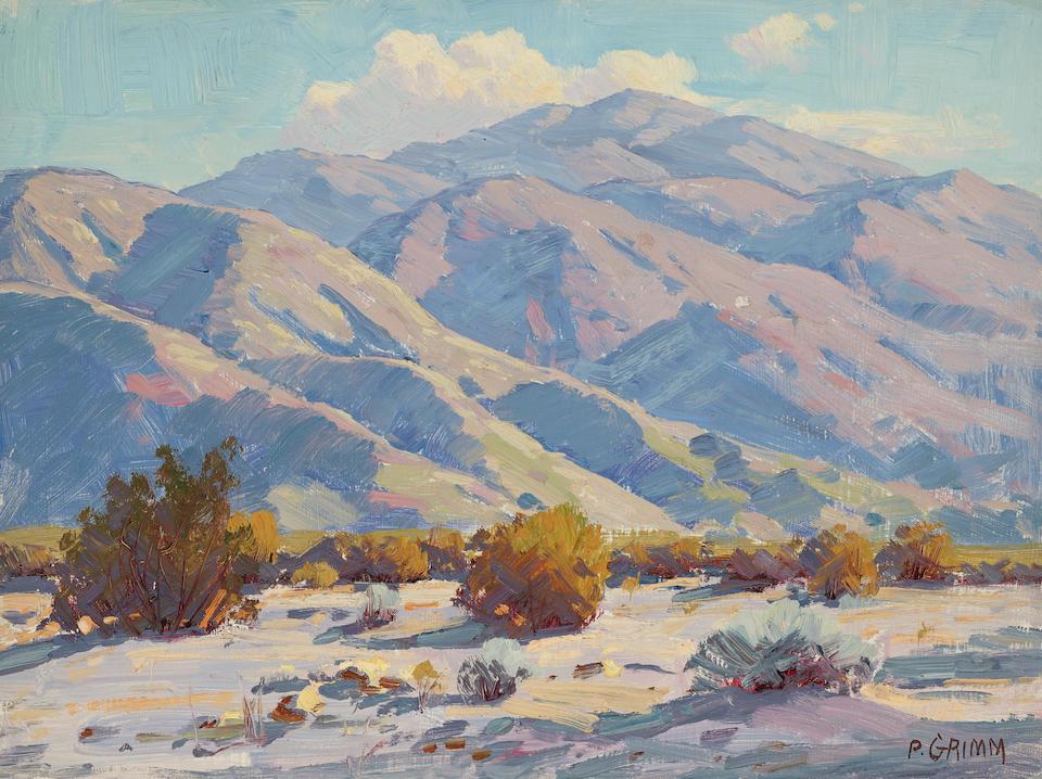 Paul Grimm (1891-1974) Desert scenes (a group of four) each 9 x 12in unframed
