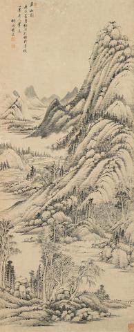 Huang Ding (1660-1730) Summer Mountain, 1710