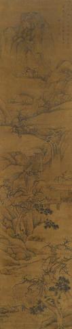 Attributed to Lan Ying (1585- c.1664)   Landscape, 1624