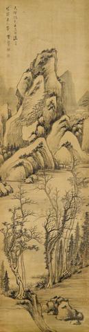 Li Liufang (1575-1629)  Ink Landscape, 1621