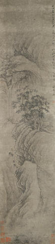 Wan Qiu 17th//18th century Watching the Waterfall