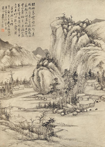 Wang Chen (1720-1797)  Ink Landscape, 1752