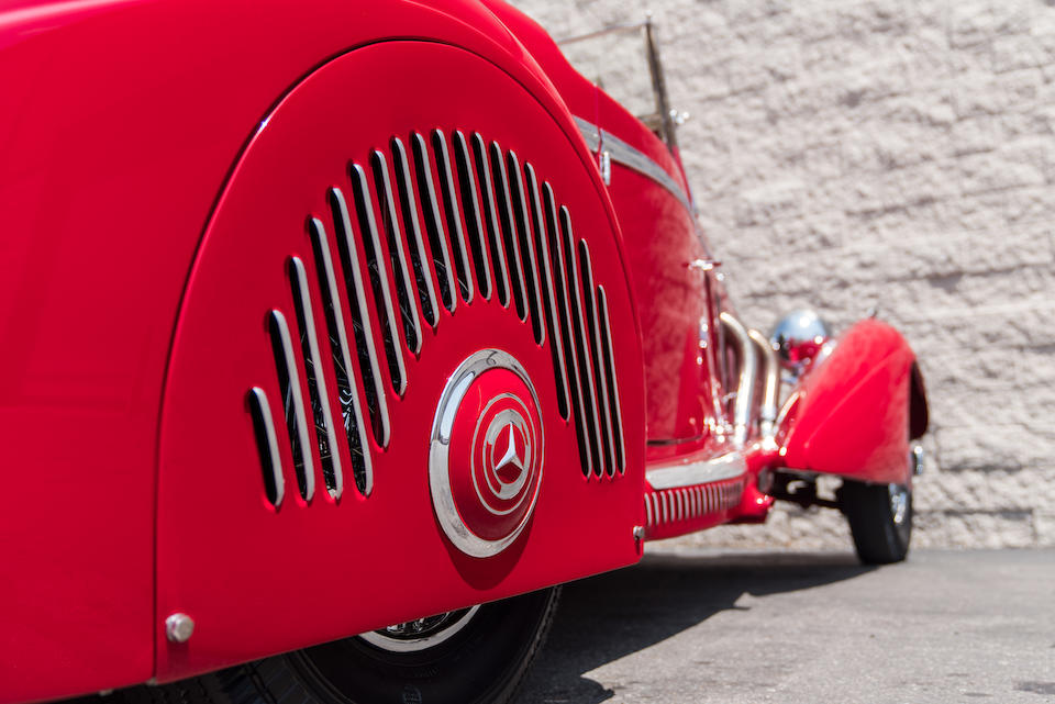 <b>1937 Mercedes-Benz 540K Sports Roadster</b><br />Chassis no. 154080<br />Engine no. 154080