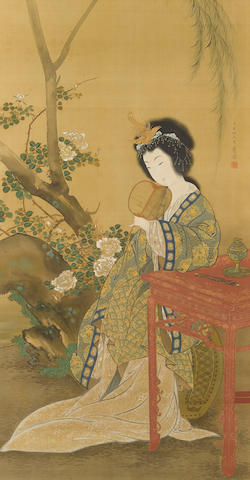 Maruyama Okyo (1733-1795) Yang GuifeiEdo period (1615-1868), dated 1794