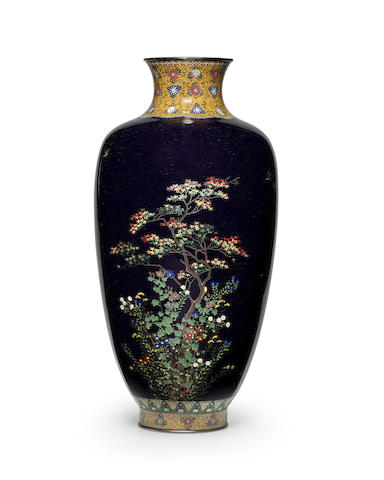 Hayashi Kodenji (1831-1915) A fine cloisonné-enamel vaseMeiji era (1868-1912), late 19th/early 20th century