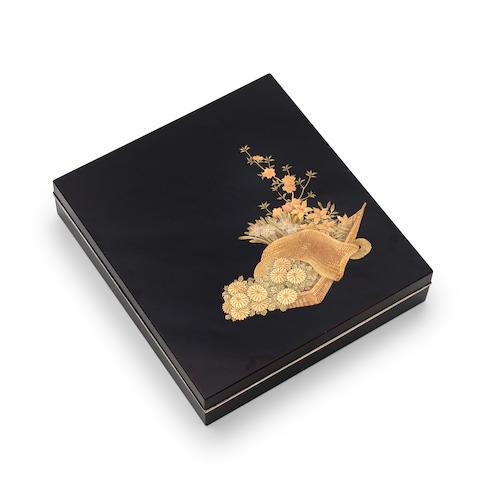 Shiomi Masanari  A small lacquer writing boxEdo period (1615-1868), 18th century