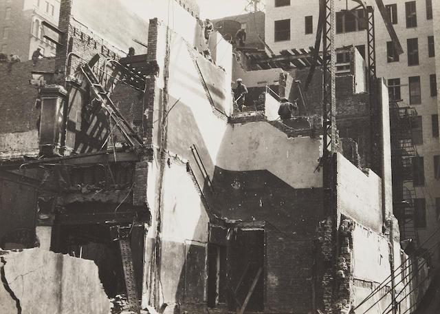 Walker Evans (1903-1975); Demolition Site, New York;