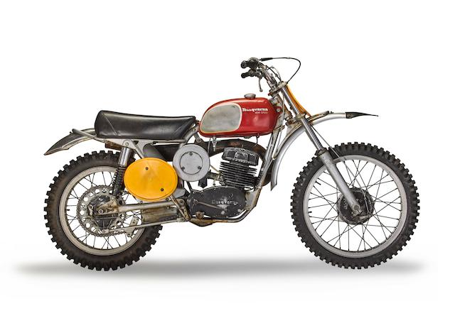 """Owned and ridden by Steve McQueen in the film """"On Any Sunday"""", 1970 Husqvarna 400 Cross"""