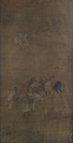 Anonymous (18th/19th century) Horses and Riders
