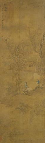 After Gai Qi (1774-1829) Figure in An Autumn Landscape