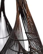 Uematsu Chikuyu (1947-)  A large bamboo basket titled Wind BagShowa (1926-1989) or Heisei (1989-) era, late 20th century