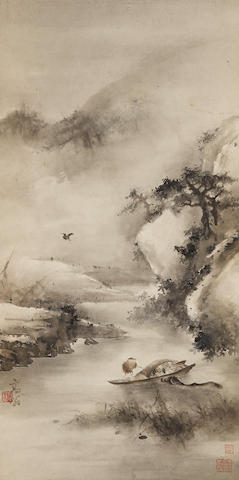 Gao Qifeng (1889-1933) Ferrying in the Mist