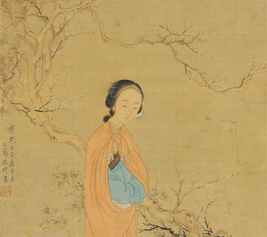 Gai Qi (1774-1829) Woman under a Tree, 1827