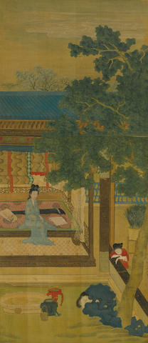 After Qiu Ying (1494-1551/2) Palace Ladies with Cats