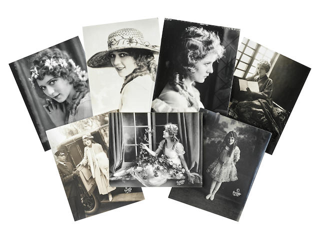 A large group of photos of Mary Pickford taken by Fred Hartsook