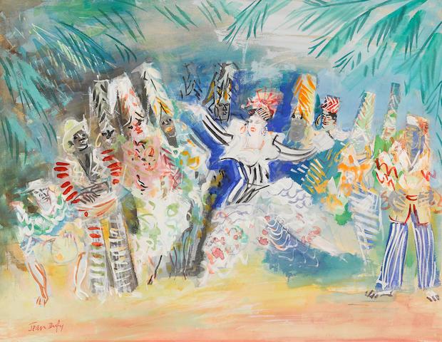 JEAN DUFY (1888-1964) Les ballets de Katherine Dunham 18 1/8 x 23 5/8 in (46.1 x 59.9 cm)