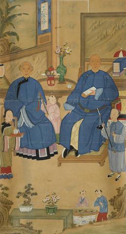 A Informal Ancestor Portrait 19th century