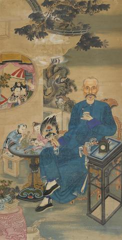 An Informal Ancestor Portrait  19th century