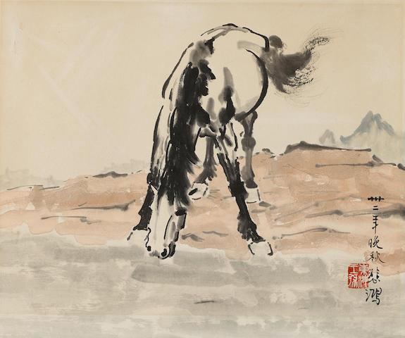 Xu Beihong (1895-1953) Horse Drinking Water,1943