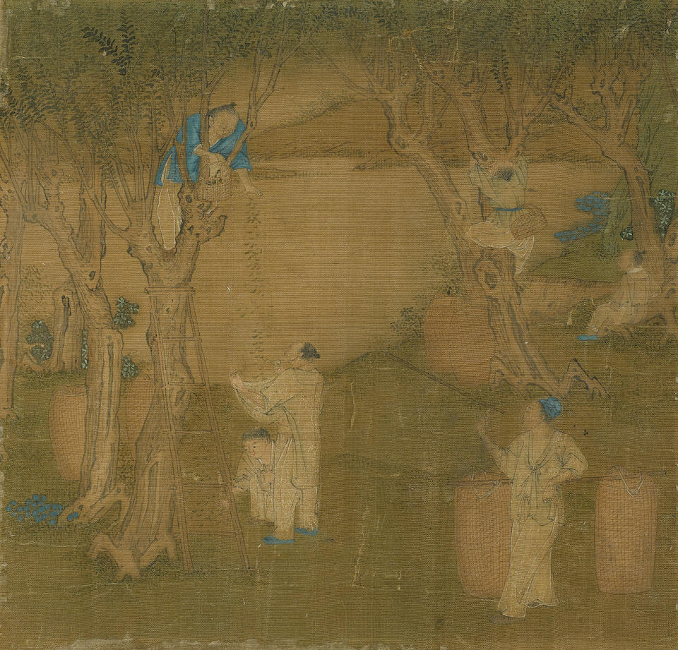 After Jiao Bingzhen (fl.1689-1726) Scenes of Silk and Rice Production