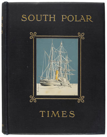 SHACKLETON, ERNEST, REGINALD KOETTLITZ, LOUIS C. BERNACCHI and APSLEY CHERRY-GARRARD, EDITORS. South Polar Times. London: Smith, Elder, & Co., 1907, 1914 and 2010.