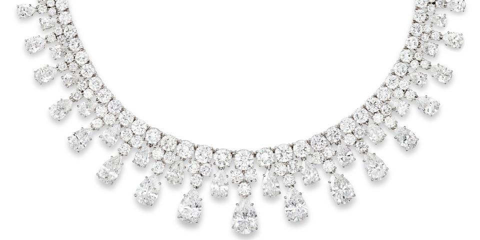A diamond necklace, Harry Winston,