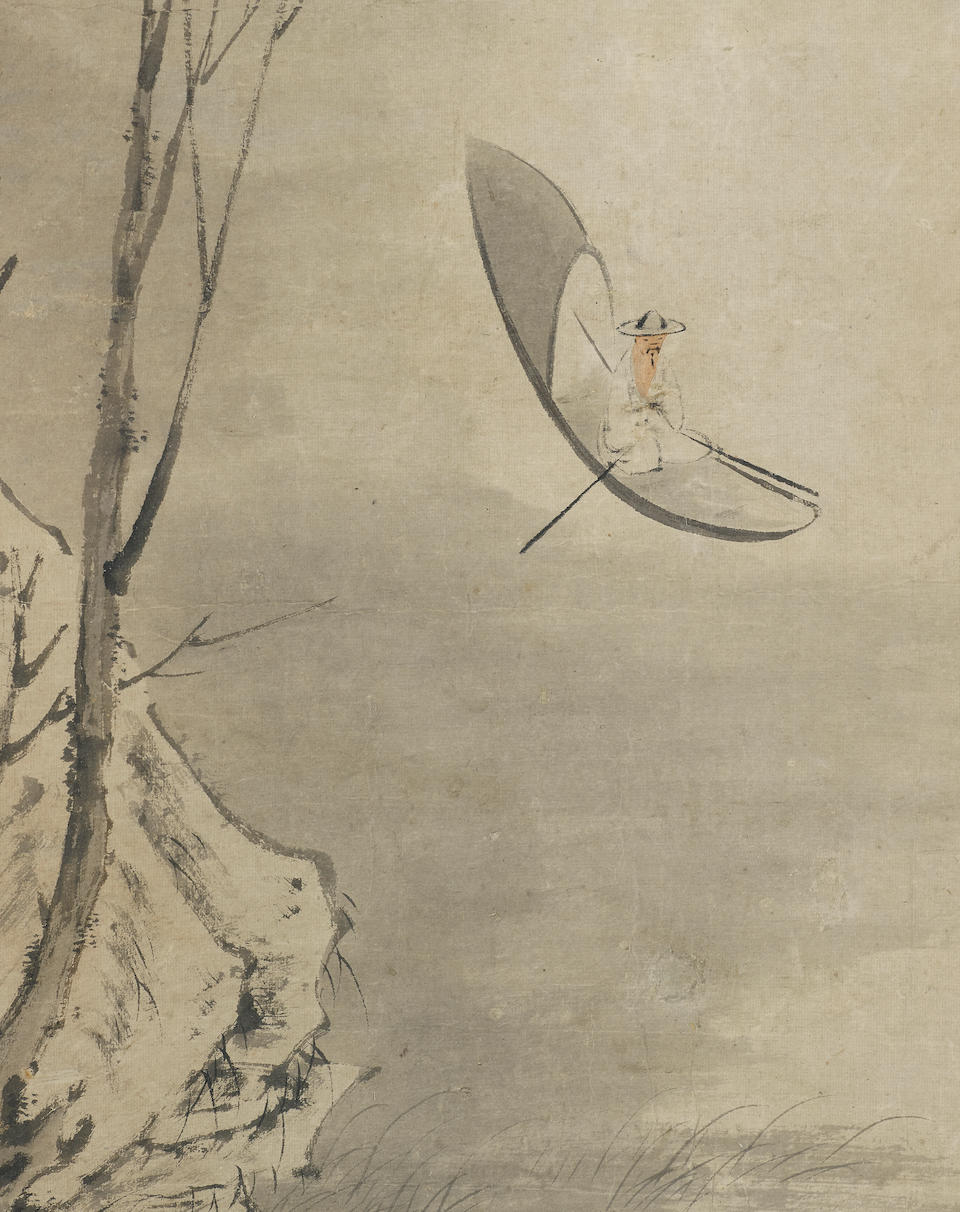 Zhang Feng (d. 1662) Snow Landscape with boat, 1648
