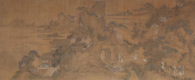 After Gu Jianlong (1606-1687)   Immortal Gathering, 18th/19th century