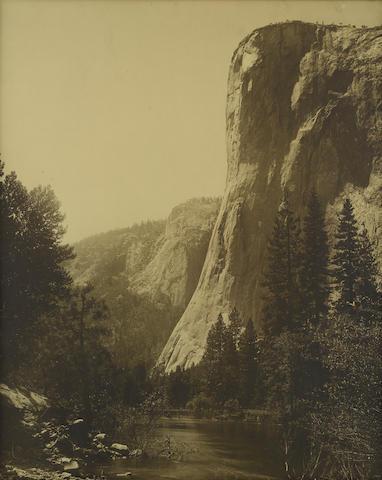 CALIFORNIA: YOSEMITE PHOTOGRAPHY. WATKINS, CARLETON. 1829-1916. Original photograph, El Capitan, Yosemite,