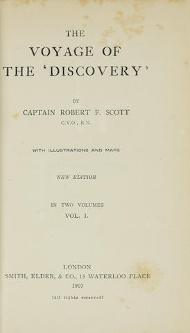 SCOTT, ROBERT FALCON. 1868-1912. 1. Scott's Last Expedition. London: Smith, Elder, & Co., 1913.